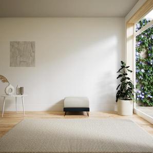 Polsterhocker Anthrazit, mit Gold - Eleganter Polsterhocker: Hochwertige Qualität, einzigartiges Design - 60 x 42 x 60 cm, Individuell konfigurierbar