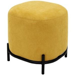 Polsterhocker - gelb - 42 cm - 46 cm - 42 cm   Möbel Kraft