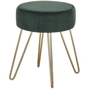 Polsterhocker - grün - 45,5 cm   Möbel Kraft