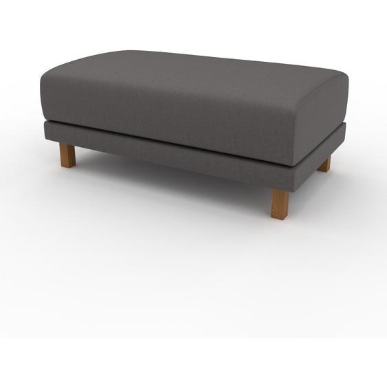 Polsterhocker Kiesgrau - Eleganter Polsterhocker: Hochwertige Qualität, einzigartiges Design - 100 x 42 x 60 cm, Individuell konfigurierbar