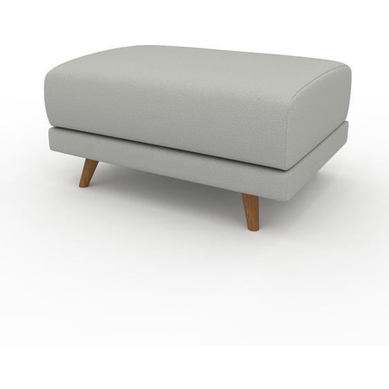 Polsterhocker Kiesgrau - Eleganter Polsterhocker: Hochwertige Qualität, einzigartiges Design - 80 x 42 x 60 cm, Individuell konfigurierbar