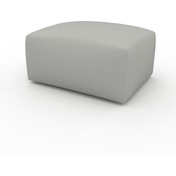 Polsterhocker Kiesgrau - Eleganter Polsterhocker: Hochwertige Qualität, einzigartiges Design - 80 x 42 x 64 cm, Individuell konfigurierbar
