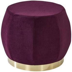Polsterhocker  Lecce ¦ lila/violett ¦ Maße (cm): H: 37 Ø: 45