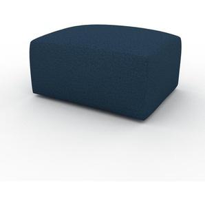 Polsterhocker Ozeanblau - Eleganter Polsterhocker: Hochwertige Qualität, einzigartiges Design - 80 x 42 x 64 cm, Individuell konfigurierbar