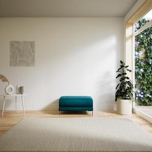 Polsterhocker Samt Ozeangrün - Eleganter Polsterhocker: Hochwertige Qualität, einzigartiges Design - 80 x 42 x 60 cm, Individuell konfigurierbar