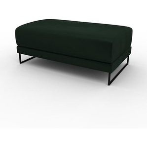 Polsterhocker Samt Tannengrün - Eleganter Polsterhocker: Hochwertige Qualität, einzigartiges Design - 100 x 42 x 60 cm, Individuell konfigurierbar