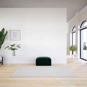 Polsterhocker Samt Tannengrün - Eleganter Polsterhocker: Hochwertige Qualität, einzigartiges Design - 80 x 42 x 64 cm, Individuell konfigurierbar