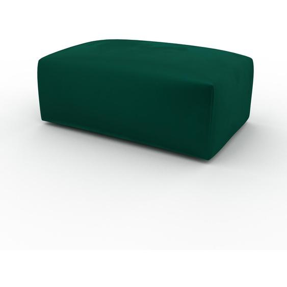 Polsterhocker Samt Waldgrün - Eleganter Polsterhocker: Hochwertige Qualität, einzigartiges Design - 100 x 42 x 64 cm, Individuell konfigurierbar
