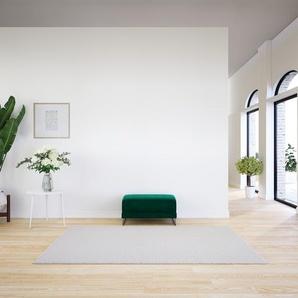 Polsterhocker Samt Waldgrün - Eleganter Polsterhocker: Hochwertige Qualität, einzigartiges Design - 80 x 42 x 60 cm, Individuell konfigurierbar