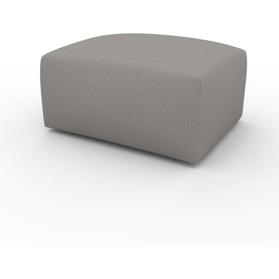 Polsterhocker Sandgrau - Eleganter Polsterhocker: Hochwertige Qualität, einzigartiges Design - 80 x 42 x 64 cm, Individuell konfigurierbar