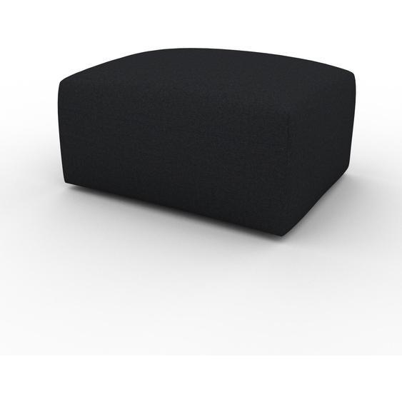 Polsterhocker Schwarz - Eleganter Polsterhocker: Hochwertige Qualität, einzigartiges Design - 80 x 42 x 64 cm, Individuell konfigurierbar