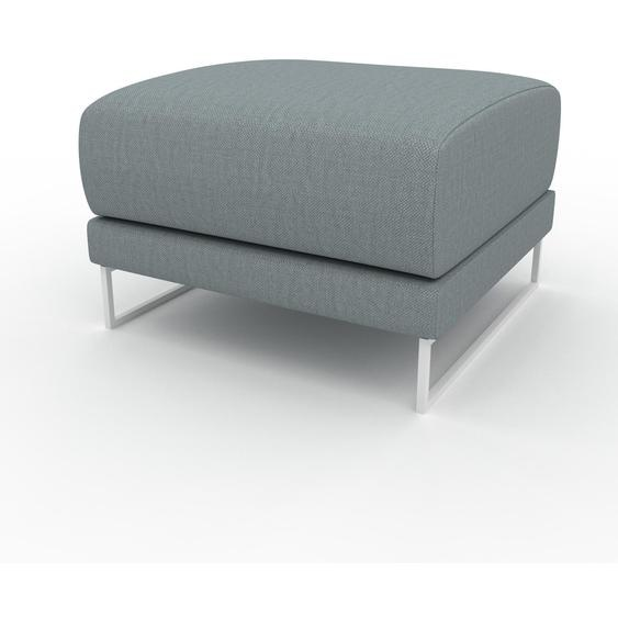 Polsterhocker Taubenblau - Eleganter Polsterhocker: Hochwertige Qualität, einzigartiges Design - 60 x 42 x 60 cm, Individuell konfigurierbar