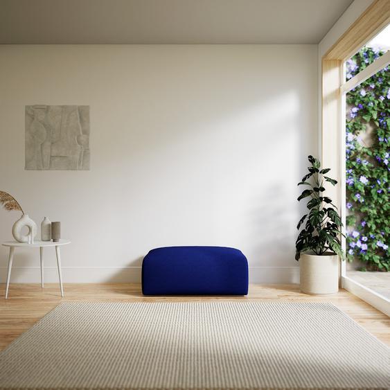Polsterhocker Tintenblau - Eleganter Polsterhocker: Hochwertige Qualität, einzigartiges Design - 100 x 42 x 64 cm, Individuell konfigurierbar