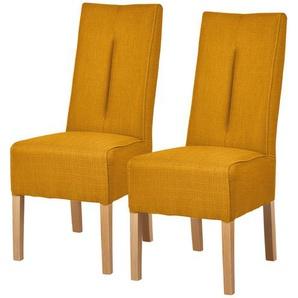 Polsterstuhl 2er Set Buche curry  Marlon ¦ gelb ¦ Maße (cm): B: 44 H: 103 T: 63 Stühle  Esszimmerstühle  Esszimmerstühle ohne Armlehnen » Höffner