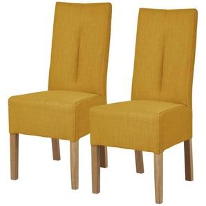 Polsterstuhl 2er Set Eiche curry  Marc ¦ gelb ¦ Maße (cm): B: 44 H: 103 T: 63 Stühle  Esszimmerstühle  Esszimmerstühle ohne Armlehnen » Höffner