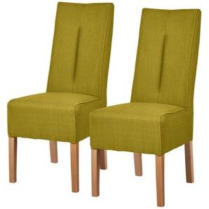 Polsterstuhl 2er Set Eiche kiwi  Marlon ¦ grün ¦ Maße (cm): B: 44 H: 103 T: 63 Stühle  Esszimmerstühle  Esszimmerstühle ohne Armlehnen » Höffner