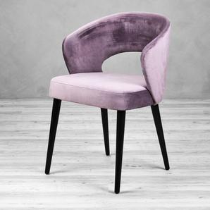 Polsterstuhl  Bacerta Velvet Gray Purple