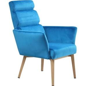 Polsterstuhl Samtbezug in bunten Farben »Sit&Chairs«, blau, SIT