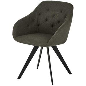 Stuhl  Tom ¦ grau ¦ Maße (cm): B: 60 H: 83 T: 64 Stühle  Esszimmerstühle  Esszimmerstühle mit Armlehnen » Höffner