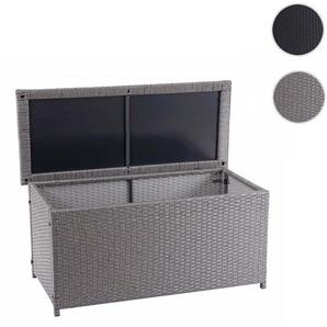 Poly-Rattan Kissenbox HWC-D88, Gartentruhe Auflagenbox Truhe ~ Basic grau, 63x135x52cm 320l