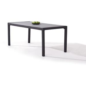 Polyrattan Esstisch 180 cm - anthrazit - Polyrattan Gartentisch in Anthrazit