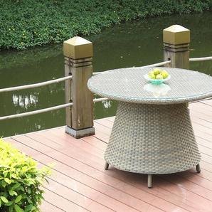 Polyrattan Esstisch Klassik 113 cm, rund - karamell - Polyrattan Esstisch in Karamell