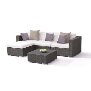 Polyrattan Sitzgruppe Mesa - anthrazit - Polyrattan Gartenmöbel Set in Anthrazit