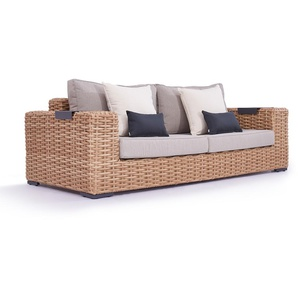 Polyrattan Sofa Molly 235 cm - honig ab 17.05.2019