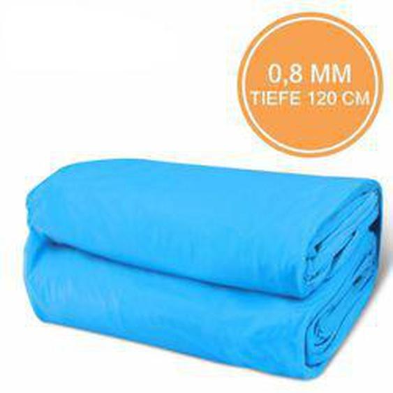 Poolfolie Rechteck 0,8mm Blau 600 x 400 x 120 cm