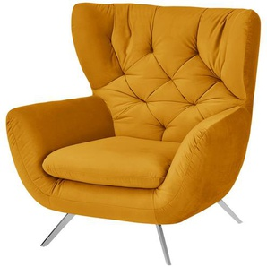 pop Hochlehnsessel - gelb - 100 cm - 106 cm - 95 cm   Möbel Kraft