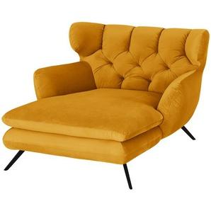 pop Longseat-Sessel  Caldara - gelb - 126 cm - 94 cm - 160 cm   Möbel Kraft
