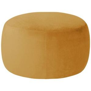 pop Samt Hocker  Amadi - gelb - 40 cm   Möbel Kraft