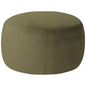 pop Samt Hocker  Amadi - grün - 40 cm   Möbel Kraft