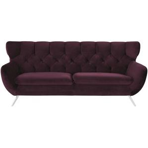 Sofa  Caldara ¦ lila/violett ¦ Maße (cm): B: 225 H: 94 T: 95 Polstermöbel  Sofas  3-Sitzer » Höffner