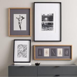 Portland Bilderrahmen 40 x 50 cm, Schwarz mit weissem Passepartout (30 x 40 cm)