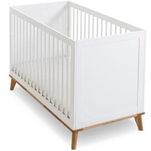 Portobello Babybett ,Weiß ,Holzoptik