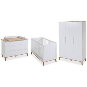 Portobello Babyzimmer-Set, Eiche Weiß