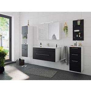 POSSEIK Badmöbel-Set VIVA schwarz/weiß