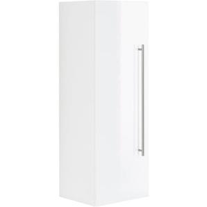 Posseik Hochschrank Viva 100 cm  Weiß matt mit Tür Weiß Hochglanz