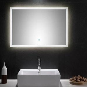 Posseik Led Spiegel 90x60 Cm Touch Bedienung Badspiegel Wandspiegel