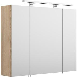 Posseik Spiegelschrank Multi-Use 80 cm x 68 cm Sonoma-Eiche EEK: A++
