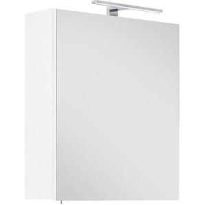 Posseik Spiegelschrank Viva 60 cm Weiß inkl. LED-Lampe EEK: A++
