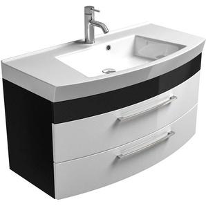 Posseik Waschplatz 100 cm Rima Anthrazit-Weiß