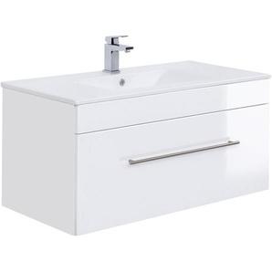Posseik Waschplatz Viva 100 cm Weiß Hochglanz