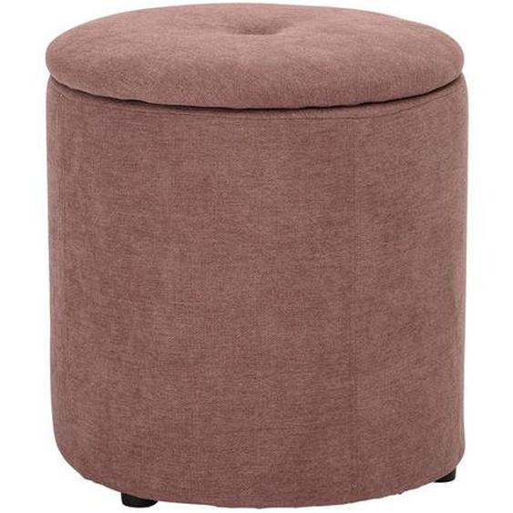 Pouf aus Polyester in Rosa mit abnehmbarer Sitzfläche Ø 37 cm