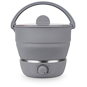 Precauti Elektrische Bratpfanne 100-240 V Tragbare Elektrische Bratpfanne Mini Wasserkocher Lebensmittelqualität Silikon Kochgeschirr Kochendem Wasser Dampfer für Zuhause Reisekocher