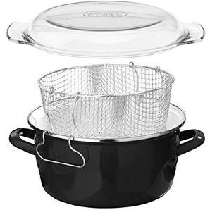 Premier Housewares 102102 Friteuse, Metall, 5 liters, schwarz