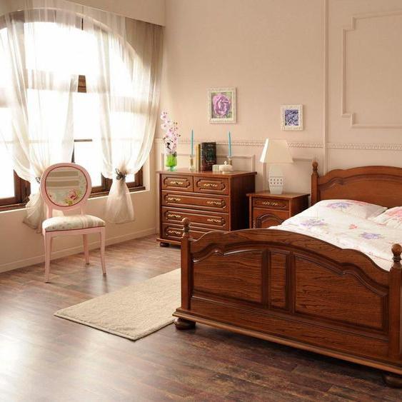 Premium collection by Home affaire Bett »Berry«, hochwertig verarbeitet mit Echtholzfurnier, Eiche Antikoptik