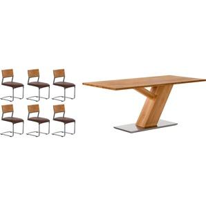 Premium collection by Home affaire Essgruppe »0«, bestehend aus dem Tisch »Ranger« und den Stühlen »Aurea«