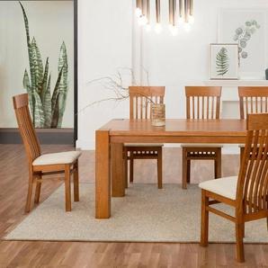 Premium collection by Home affaire Essgruppe »Amore«, (Set, 5-tlg), bestehend aus dem Tisch »Dominik« und den Stühlen